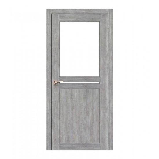 Дверь Milano ML-04 со стеклом сатин Дуб марсала
