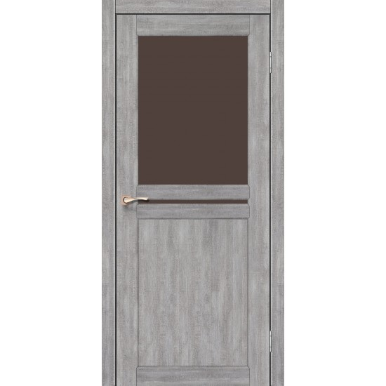 Дверь Milano ML-04 со стеклом бронза Дуб марсала