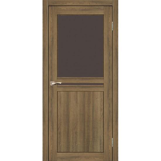 Дверь Milano ML-04 со стеклом бронза Дуб тобакко