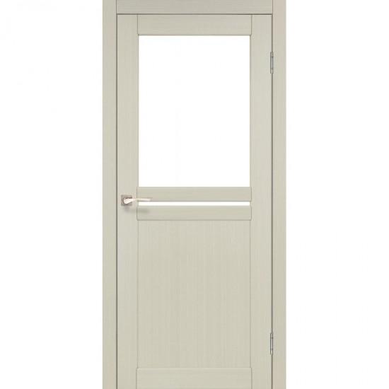 Дверь Milano ML-04 со стеклом бронза Белый перламутр