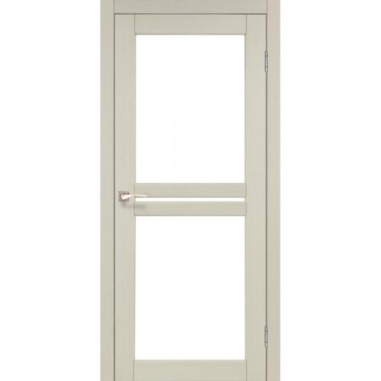 Дверь Milano ML-05 со стеклом бронза Дуб беленый