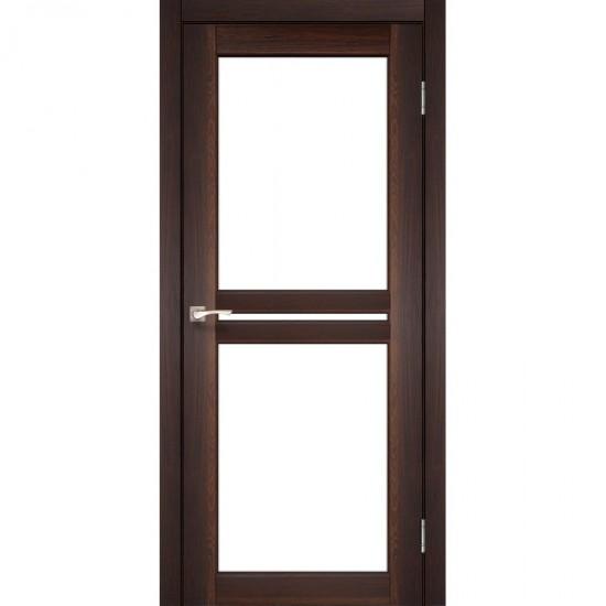 Дверь Milano ML-05 со стеклом бронза Орех