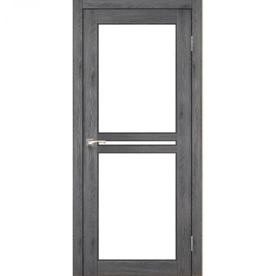 Дверь Milano ML-05 со стеклом бронза Дуб марсала