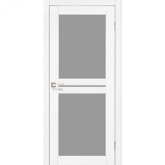 Дверь Milano ML-05 со стеклом сатин Ясень белый