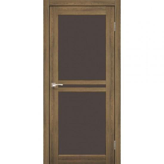 Дверь Milano ML-05 со стеклом бронза Дуб тобакко