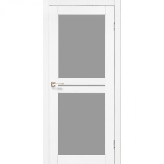 Дверь Milano ML-05 со стеклом бронза Белый перламутр
