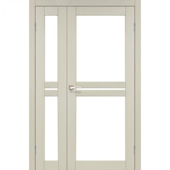 Дверь Milano ML-06 со стеклом бронза Дуб беленый