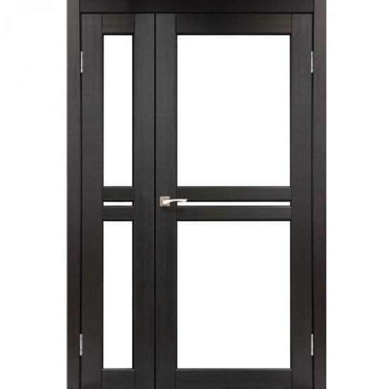 Дверь Milano ML-06 со стеклом бронза Венге