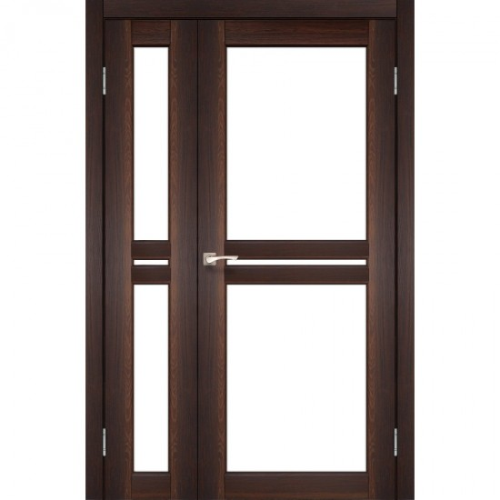 Дверь Milano ML-06 со стеклом бронза Орех