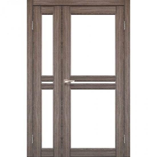 Дверь Milano ML-06 со стеклом бронза Дуб грей