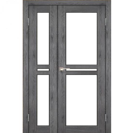 Дверь Milano ML-06 со стеклом сатин Дуб марсала