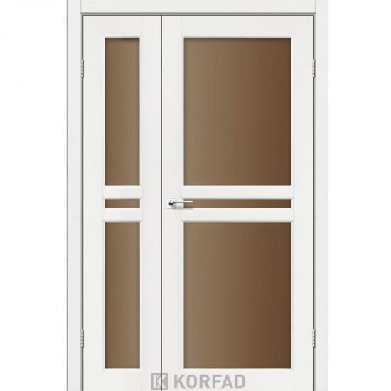 Дверь Milano ML-06 со стеклом бронза Ясень белый