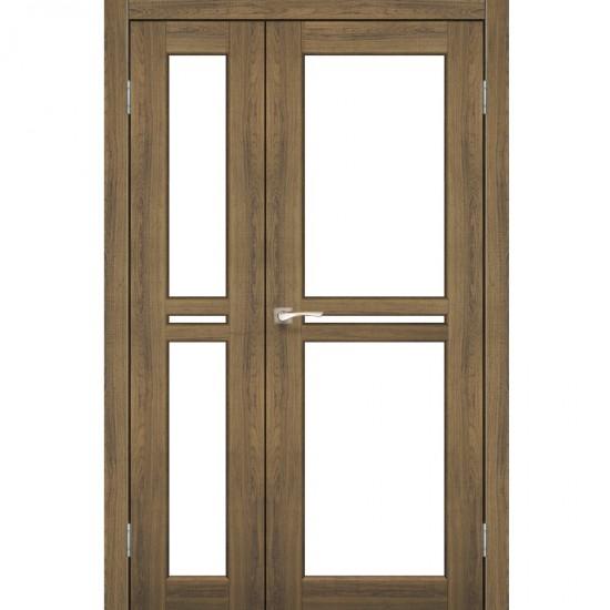 Дверь Milano ML-06 со стеклом бронза Дуб тобакко