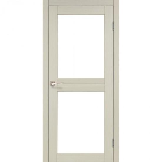 Дверь Milano ML-07 со стеклом бронза Дуб беленый