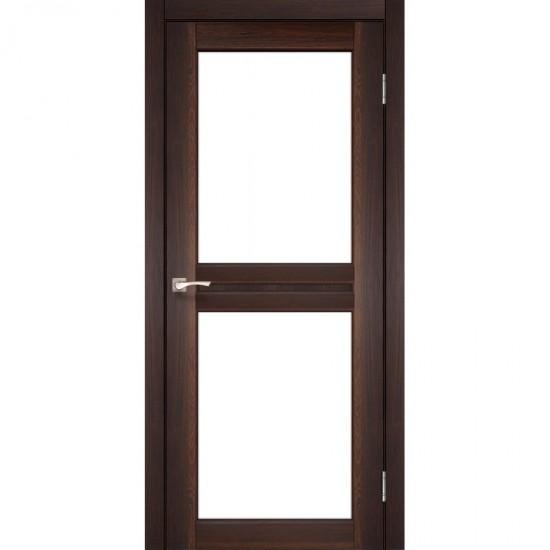 Дверь Milano ML-07 со стеклом бронза Орех