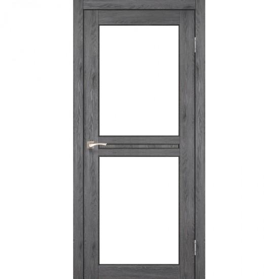 Дверь Milano ML-07 со стеклом бронза Дуб марсала