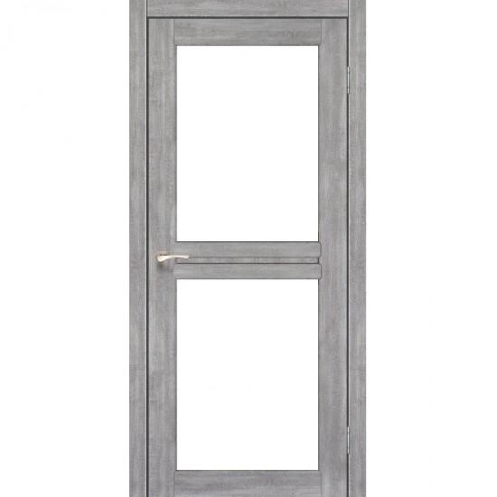 Дверь Milano ML-07 со стеклом сатин Эш-вайт