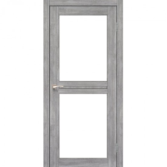 Дверь Milano ML-07 со стеклом бронза Эш-вайт