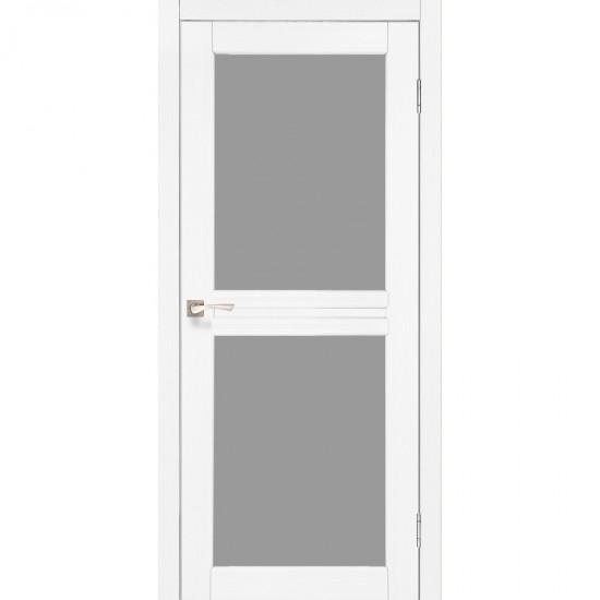Дверь Milano ML-07 со стеклом бронза Белый перламутр