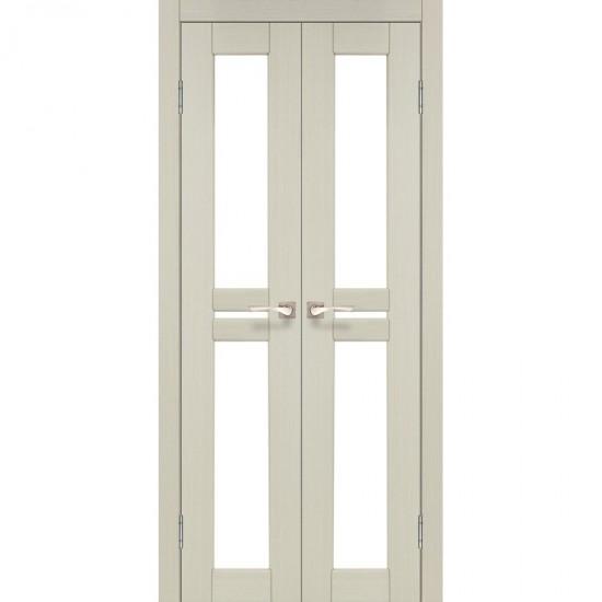 Дверь Milano ML-08 со стеклом бронза Дуб беленый