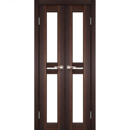 Дверь Milano ML-08 со стеклом бронза Орех