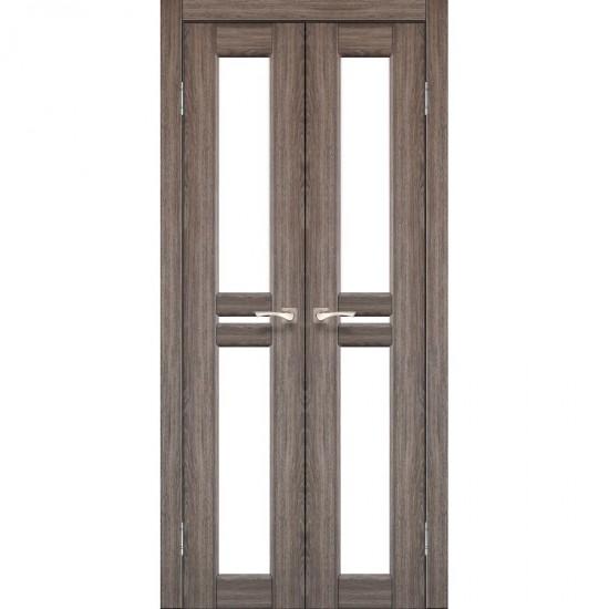 Дверь Milano ML-08 со стеклом бронза Дуб грей