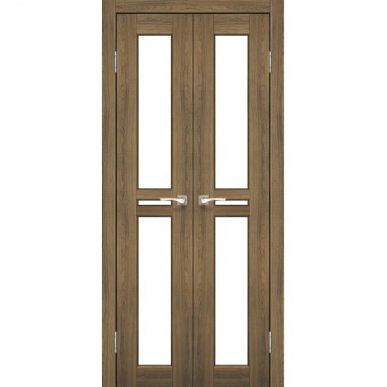 Дверь Milano ML-08 со стеклом бронза Дуб браш