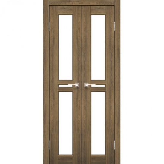 Дверь Milano ML-08 со стеклом бронза Дуб тобакко