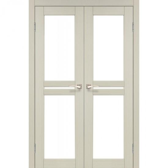 Дверь Milano ML-09 со стеклом бронза Дуб беленый