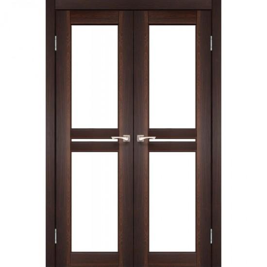 Дверь Milano ML-09 со стеклом сатин Орех