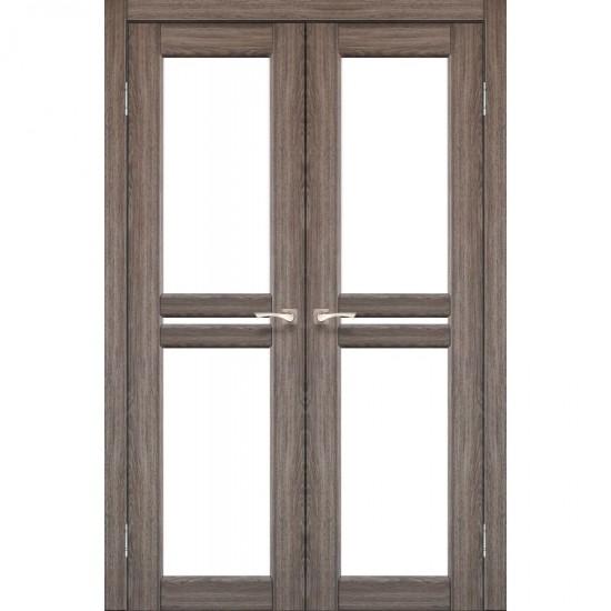 Дверь Milano ML-09 со стеклом сатин Дуб грей