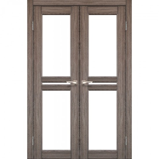 Дверь Milano ML-09 со стеклом бронза Дуб грей