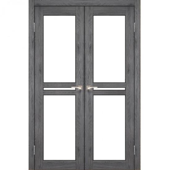 Дверь Milano ML-09 со стеклом бронза Дуб марсала