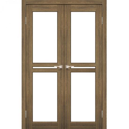 Дверь Milano ML-09 со стеклом бронза Дуб браш
