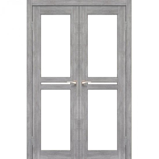 Дверь Milano ML-09 со стеклом сатин Эш-вайт