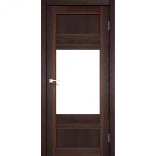 Дверь Tivoli TV-01 со стеклом бронза Орех