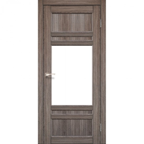 Дверь Tivoli TV-01 со стеклом сатин Дуб грей