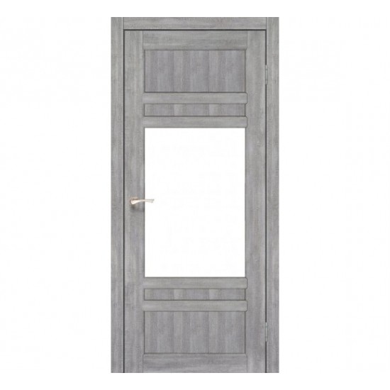 Дверь Tivoli TV-01 со стеклом сатин Эш-вайт