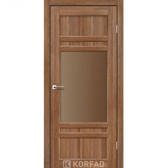 Дверь Tivoli TV-01 со стеклом сатин Дуб тобакко