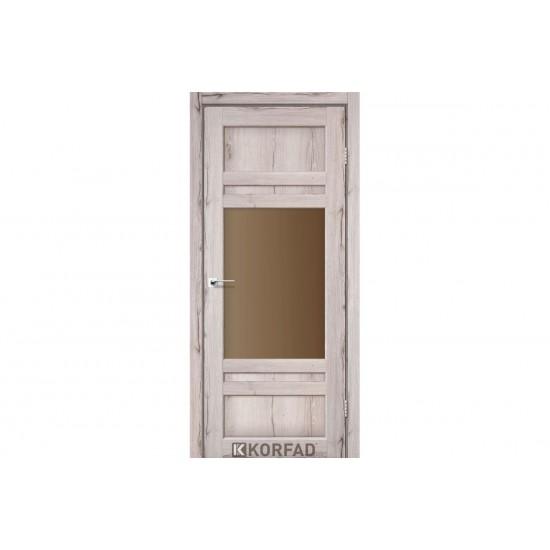 Дверь Tivoli TV-01 со стеклом бронза Дуб нордик