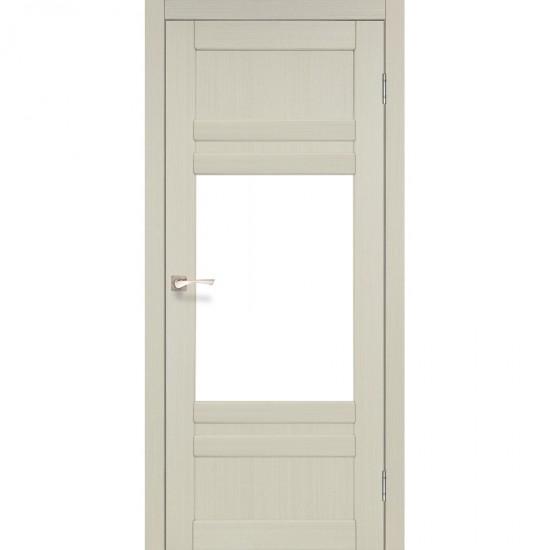 Дверь Tivoli TV-01 со стеклом бронза Белый перламутр
