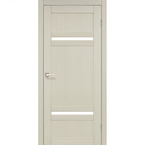 Дверь Tivoli TV-03 со стеклом бронза Белый перламутр