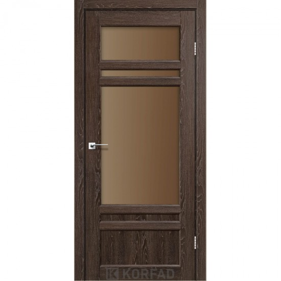 Дверь Tivoli TV-04 со стеклом сатин Дуб марсала