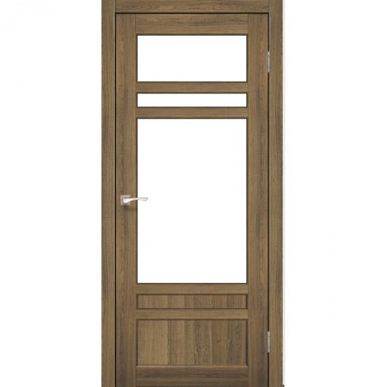 Дверь Tivoli TV-04 со стеклом сатин Дуб тобакко