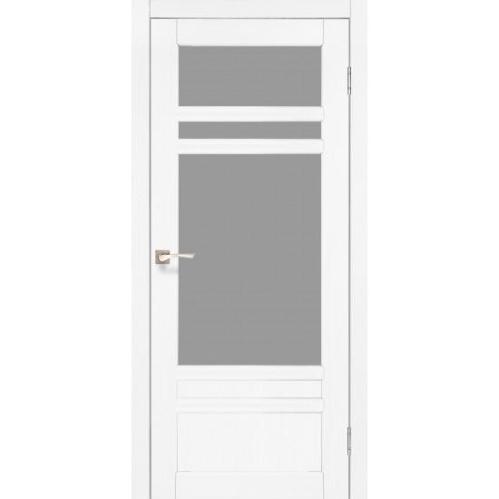 Дверь Tivoli TV-04 со стеклом сатин Белый перламутр
