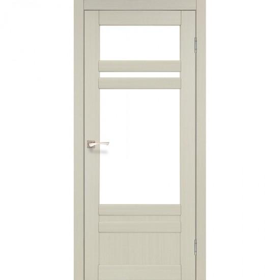 Дверь Tivoli TV-04 со стеклом бронза Дуб беленый