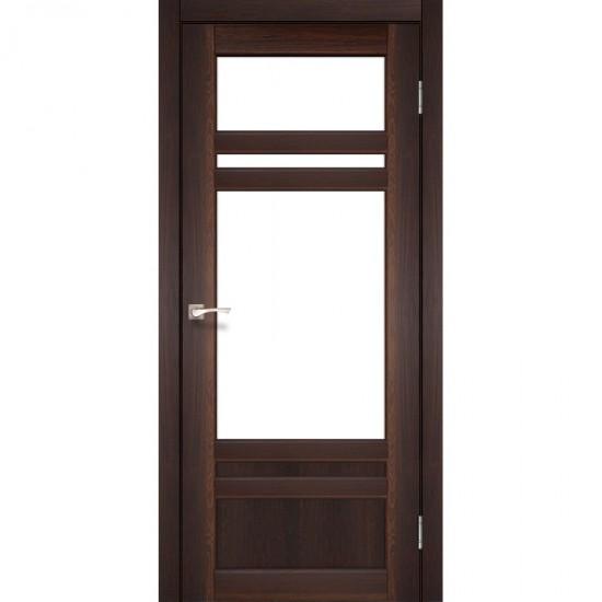 Дверь Tivoli TV-04 со стеклом бронза Орех