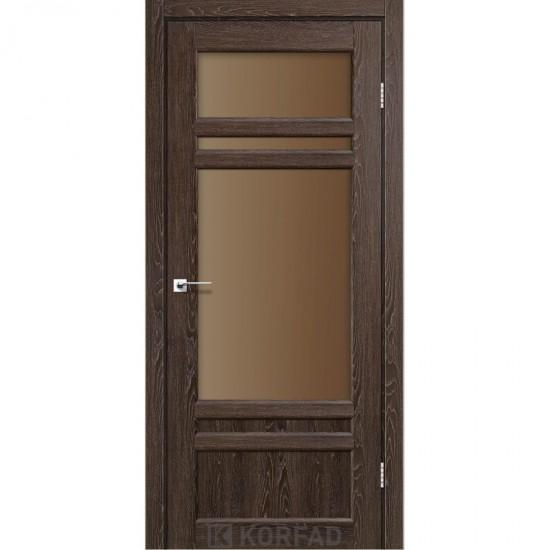 Дверь Tivoli TV-04 со стеклом бронза Дуб марсала