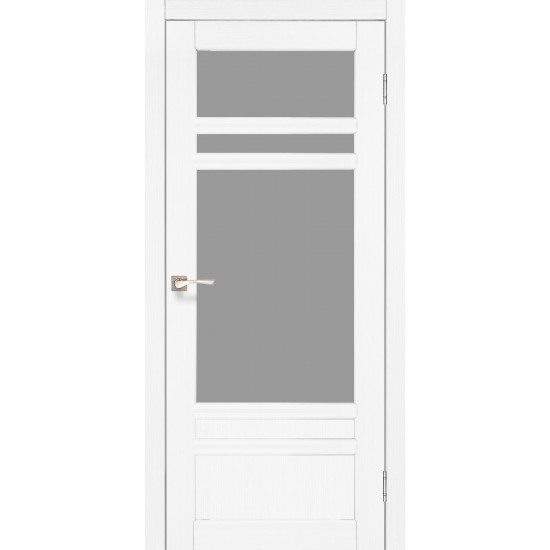 Дверь Tivoli TV-04 со стеклом бронза Белый перламутр