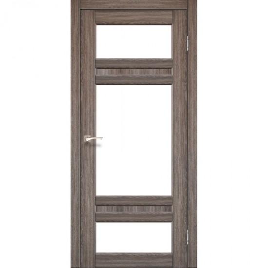 Дверь Tivoli TV-05 со стеклом сатин Дуб грей